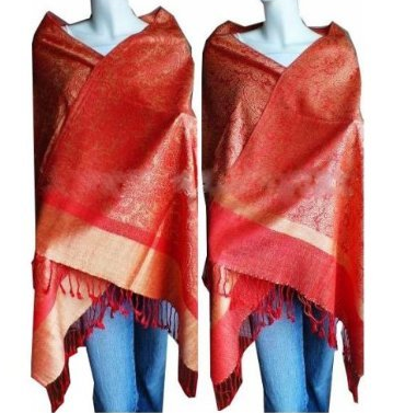 The Best Red Dress Red Pashmina Silk Wrap Stole The Best Red Dress