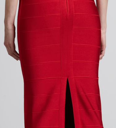 Herve Leger Bergdorf Goodman Red Open Back Bandage Gown The Best Red Dress
