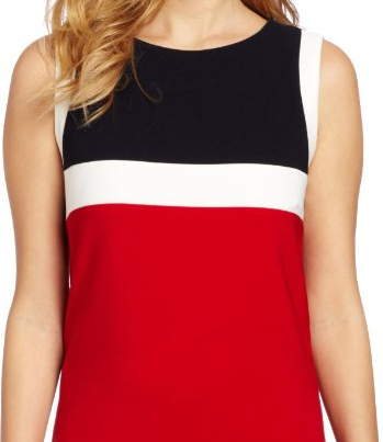 The Best Red Dress Jessica Howard Red Colorblock Dress The Best Red Dress 2