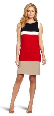 The Best Red Dress Jessica Howard Red Colorblock Dress The Best Red Dress