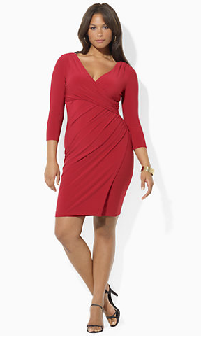 Ralph Lauren Red Draped Dress Plus Size The Best Red Dress