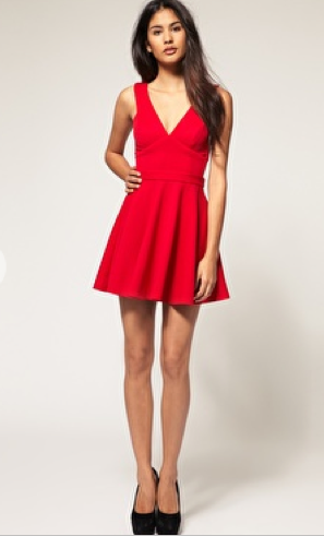 Red Asos Skater Dress Open Back The Best Red Dress 4