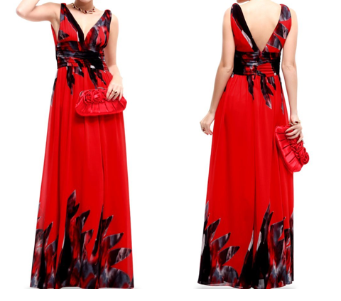 Red Empire Waist Evening Gowns The Best Red Dress
