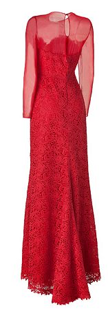 Red Valentino Silk and Lace Dress