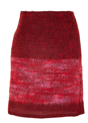 Anna Sui Red and Rose Wool Skirt The Best Red Dress