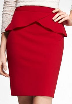 Express High Waist Red Skirt The Best Red Dress