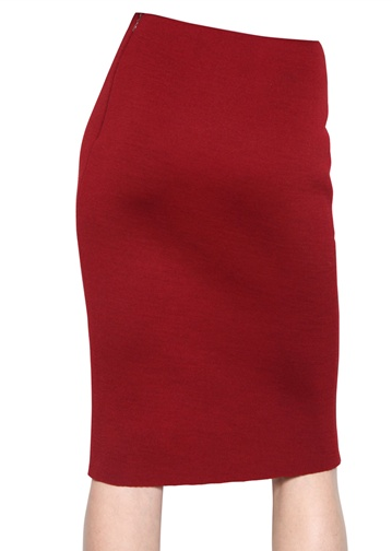 Lanvin Wool Jersey Skirt The Best Red Dress