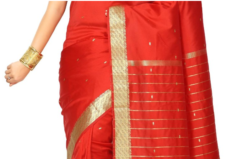 Red Art Silk Sari Saree The Best Red Dress