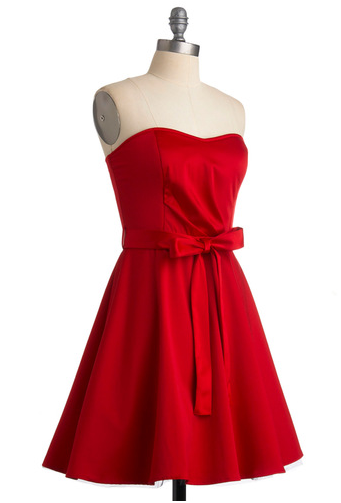 Ruby Red Strapless Dress ModCloth The Best Red Dress