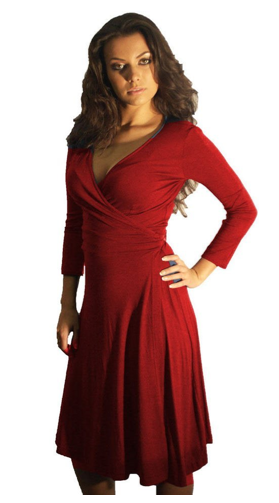Sexy Red Wrap Dress The Best Red Dress