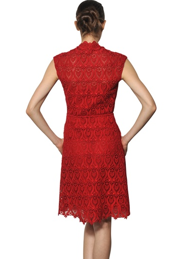 Valentino Red Cotton Macrame Dress The Best Red Dress