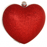 Nina Fotina Red Heart Glitter Clutch Bag The Best Red Dress
