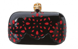 Red Alexander McQueen Classic Skull Box Clutch The Best Red Dress