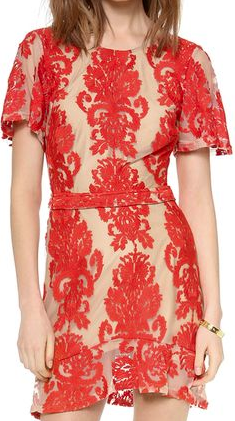 For Love of Lemons Mini Dress The Best Red Dress